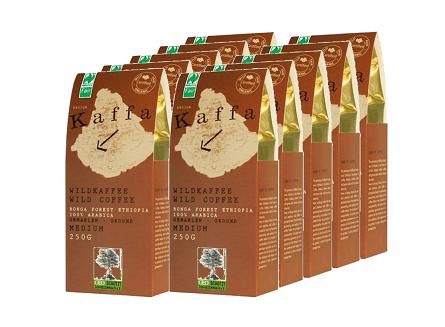 Kaffa Fairtrade Wildkaffee medium gemahlen 10er set
